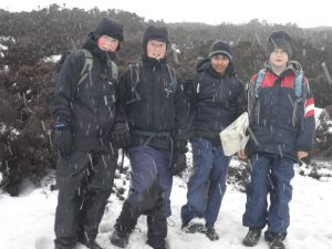 Four scouts on Kinder Scout - Winter 2010