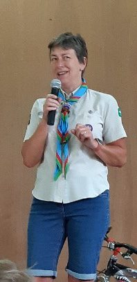 Former District Commissioner Steph Argyle opens Field Day 2019